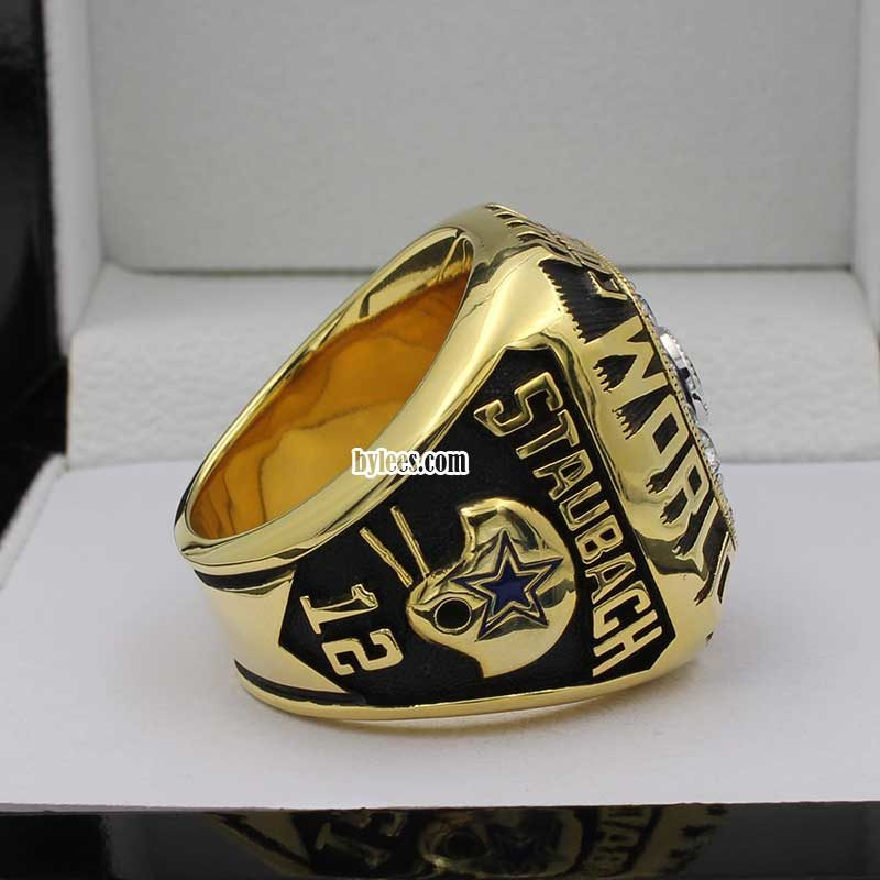 roger staubach rings ( he is the Quarterback of cowboys and got his first super bowl ring in super bowl VI)