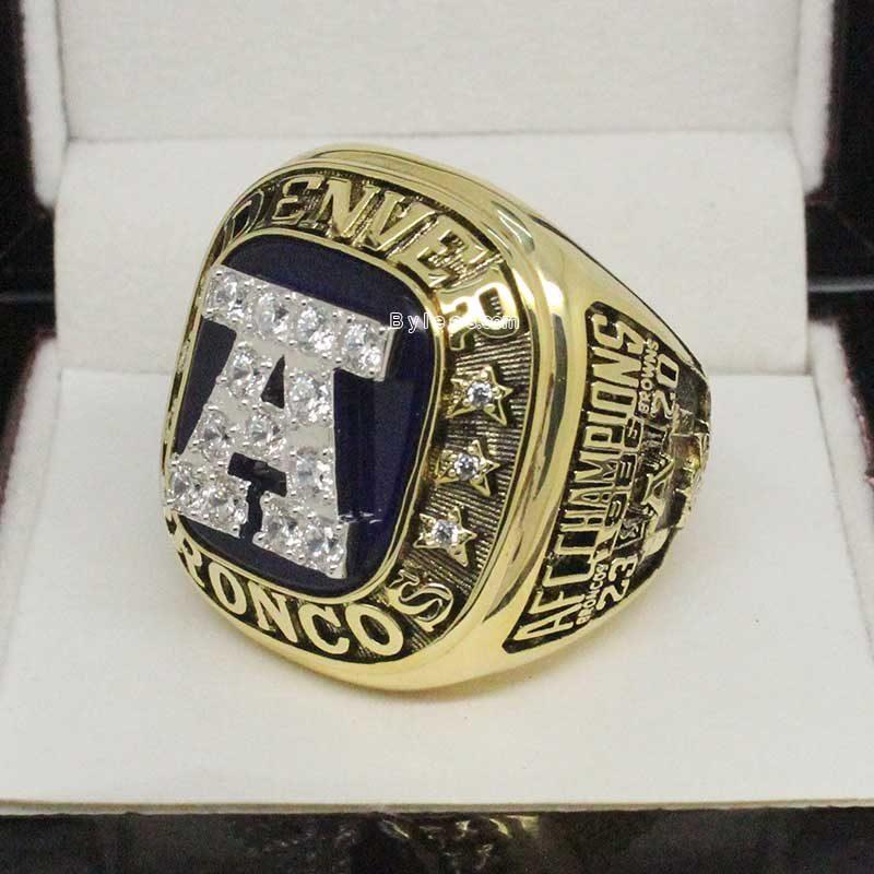 1986 Denver Broncos American Football Championship Ring