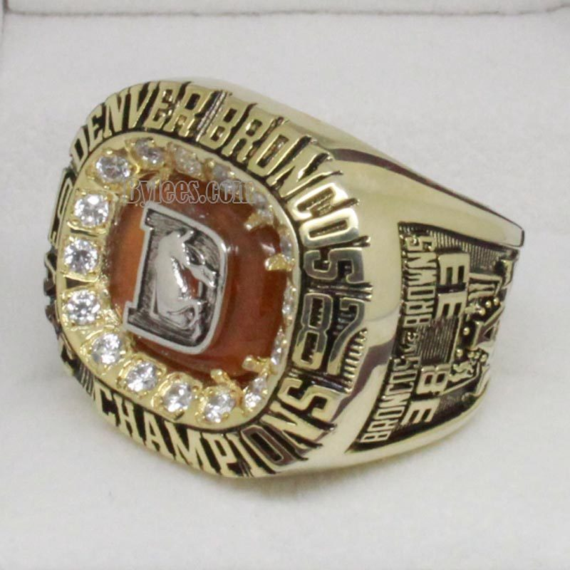 1987 Denver Broncos American Football Championship Ring