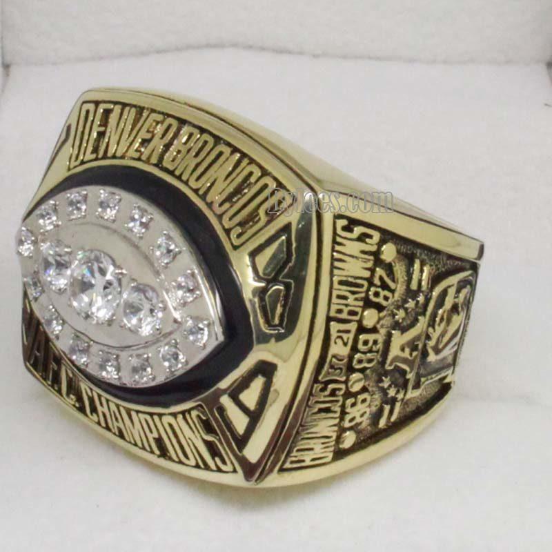 1989 Denver Broncos afc Championship Ring