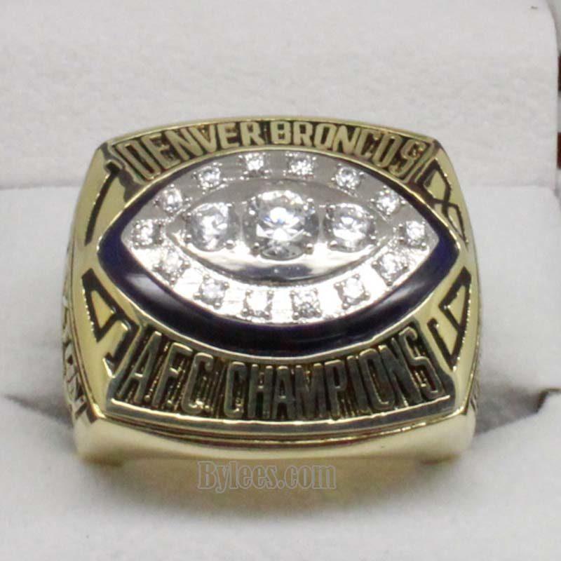 Denver Broncos 1989 afc Championship Ring