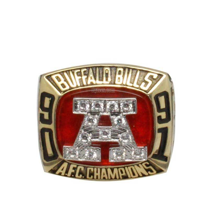 1991 Buffalo Bills American Football Championship Ring