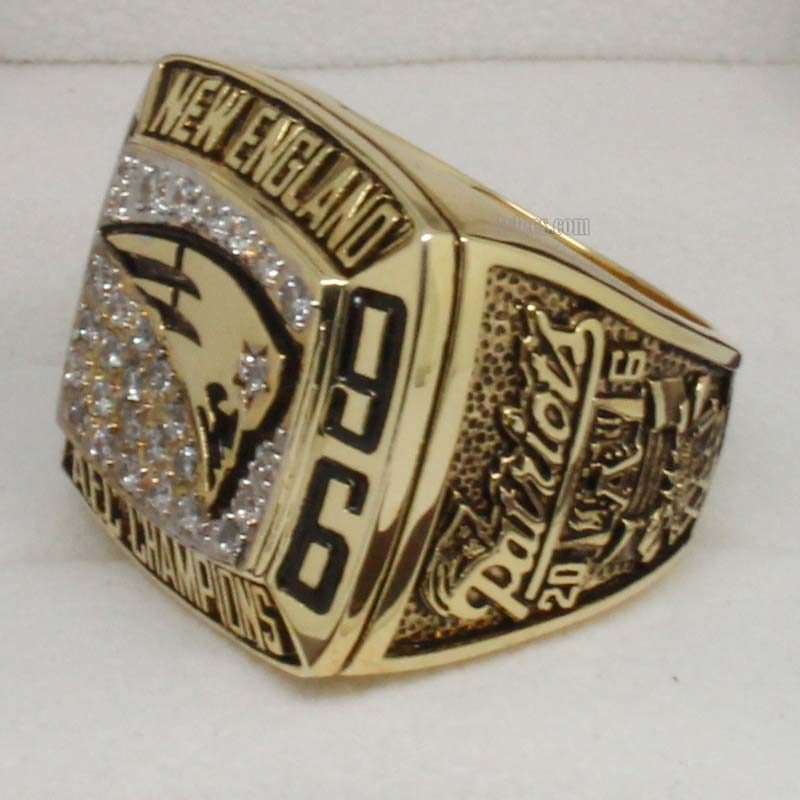 1996 New England Patriots American Football Championship Ring