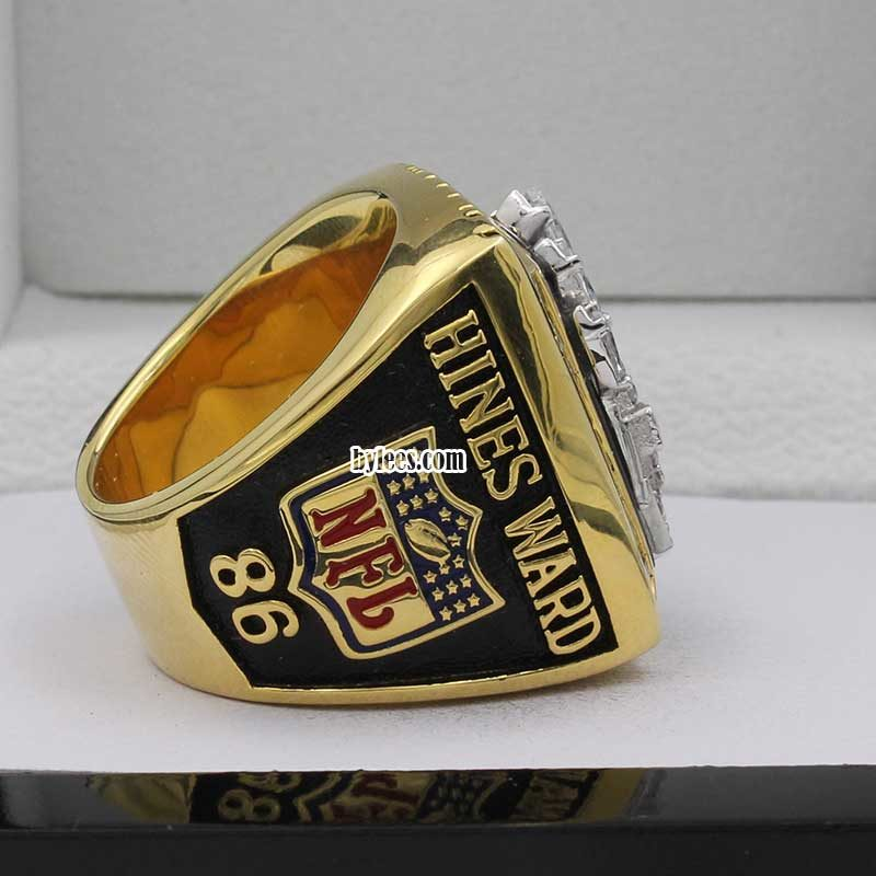 side vew of hines ward super bowl rings 2005