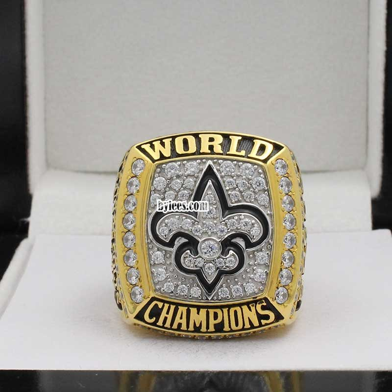 new orleans saints super bowl ring ( 2009 super bowl XLIV champions)