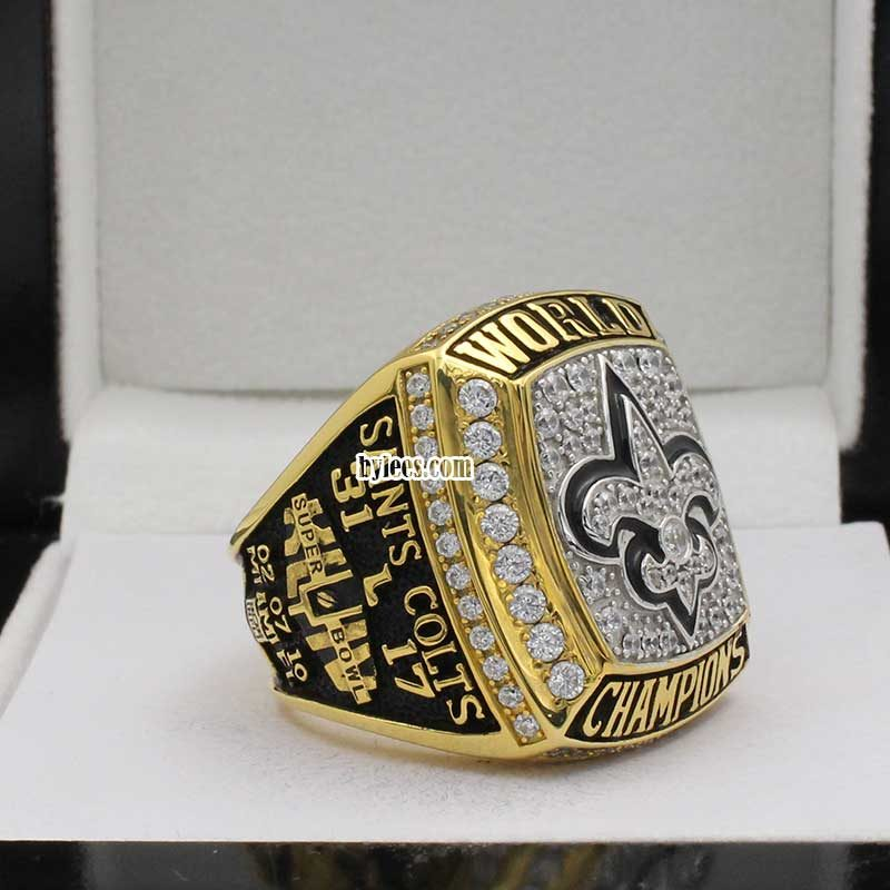 Drew Brees Super Bowl Rings ( 2009 Super Bowl XLIV Champions)