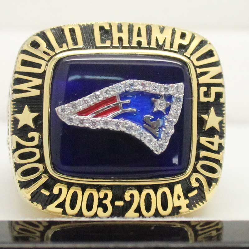 front view of super bowl fan rings 2014
