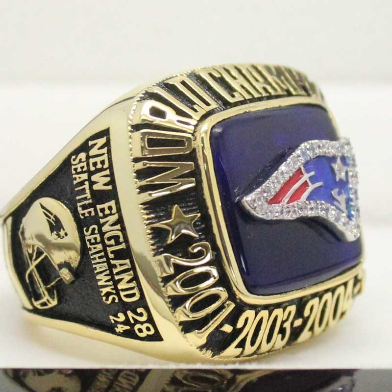 Right side view of super bowl fan rings 2014