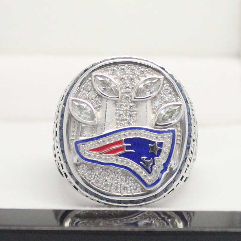 Front view of 2014 super bowl fan rings