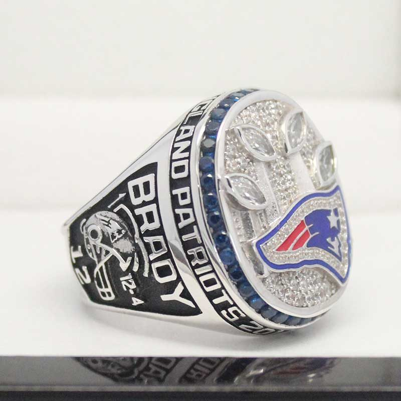 left side view of 2014 super bowl fan rings
