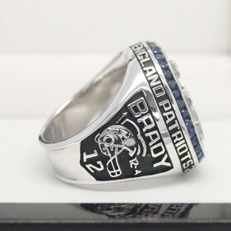 larger left side view of 2014 super bowl fan rings