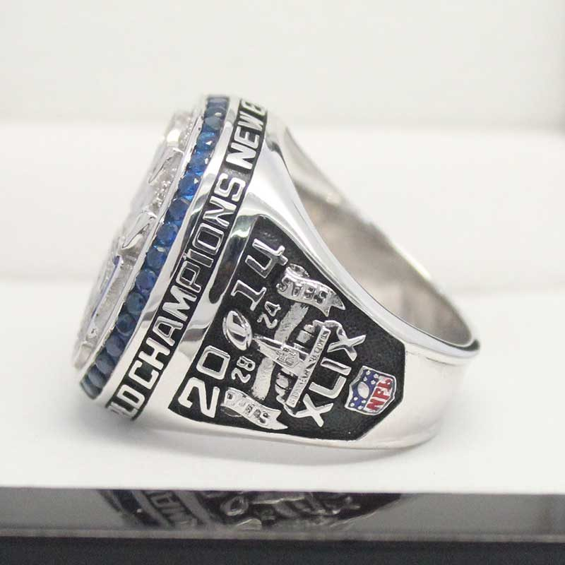Right side view of 2014 super bowl fan rings