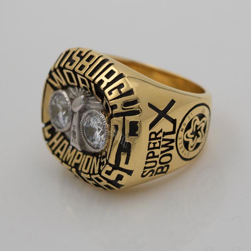 1975 Super Bowl X Pittsburgh Steelers Championship Ring