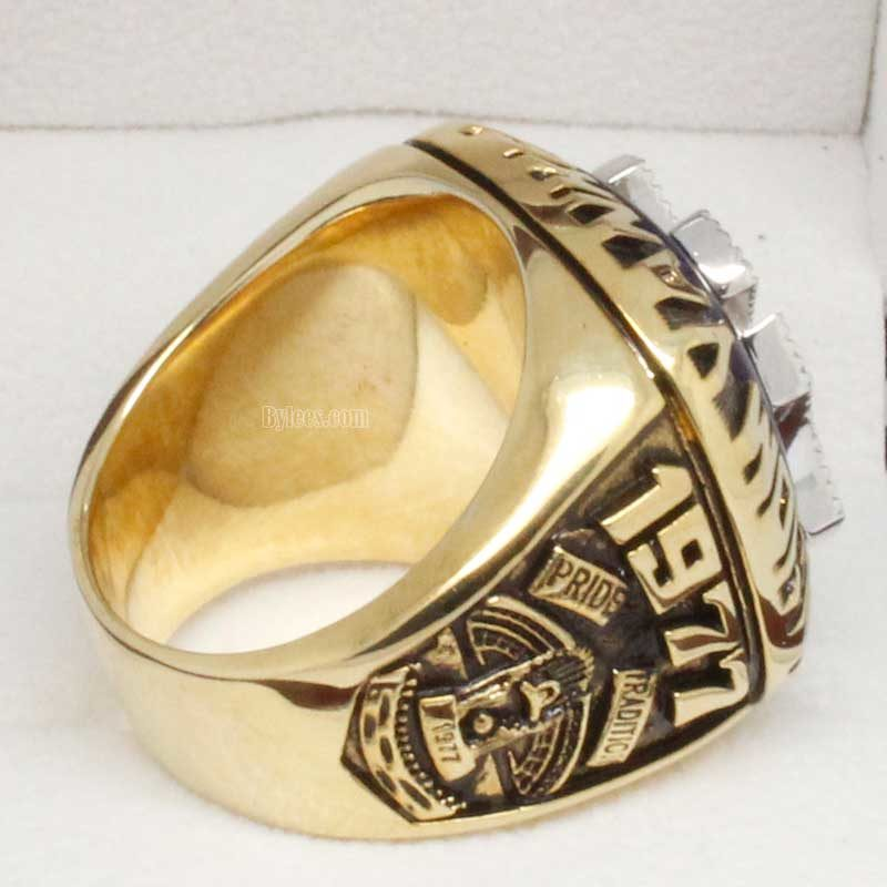 Left side view of 1977 world series ring