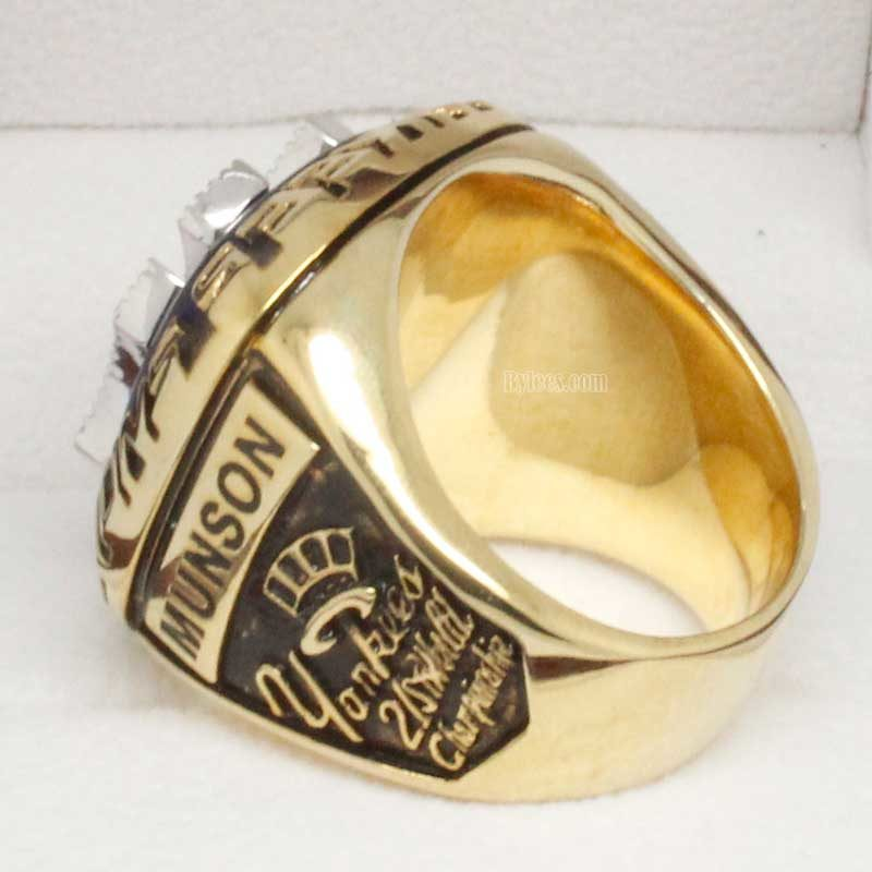 Right side view of 1977 world series ring