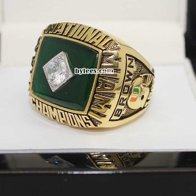 1987 Miami Hurricanes National Championship Ring