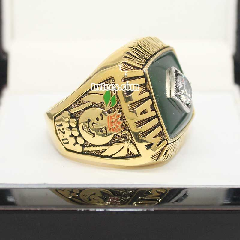 1987 University of Miami National Championship Ring