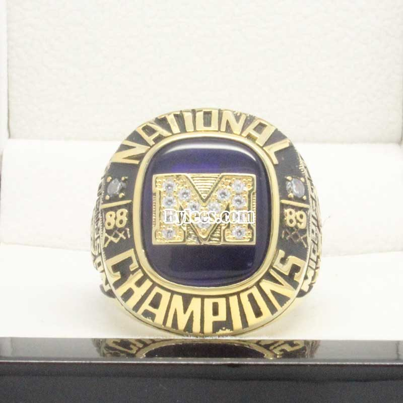 1989 Michigan National Championship Ring