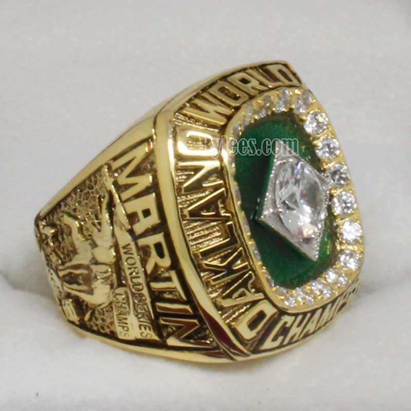 1989 Oakland Athletics world series ring