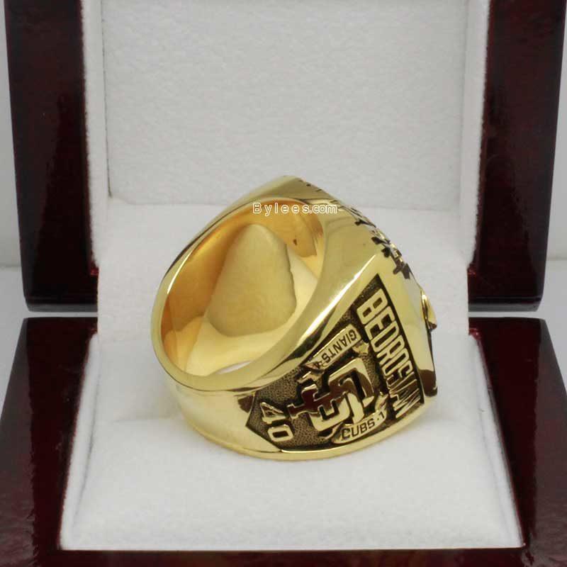 1989 San Francisco Giants Championship Ring
