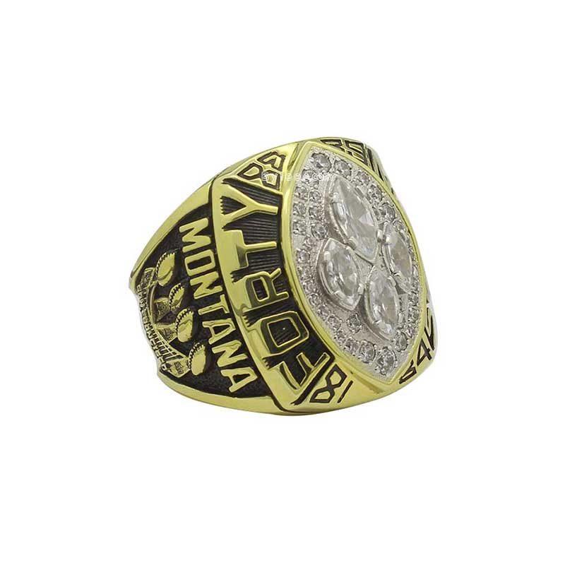 joe montana super bowl rings 1989
