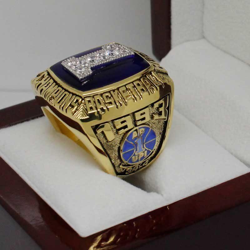 1993 North Carolina Tar Heels Basketball National Championship Ring