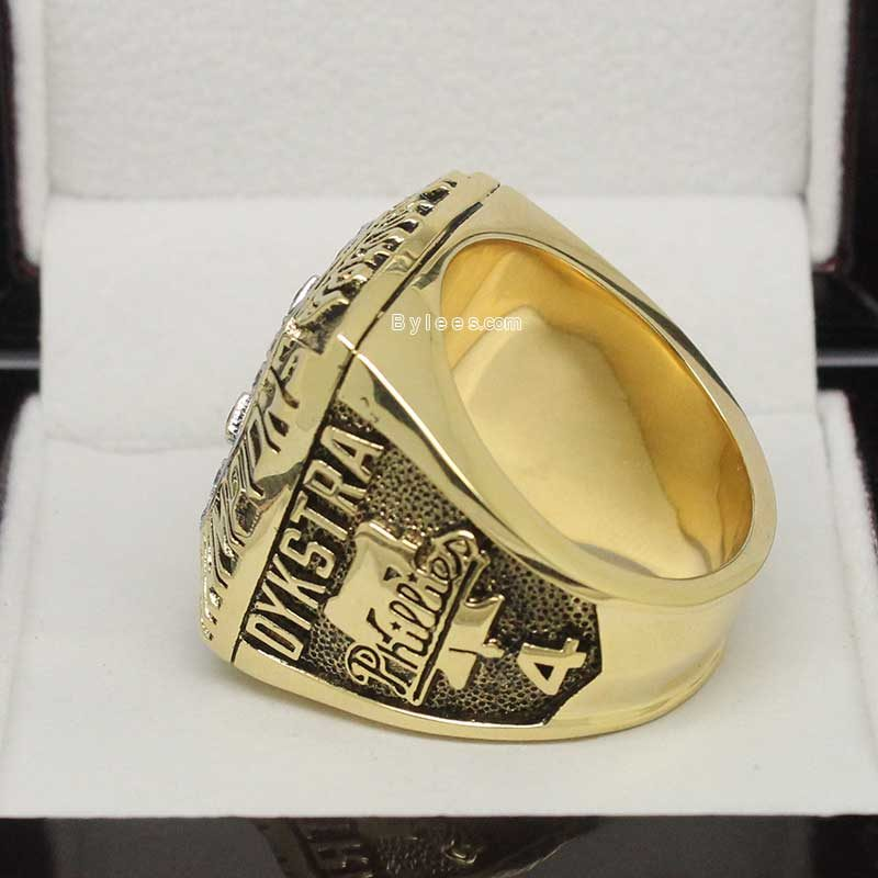 Left side view of 1993 phillies championship ring
