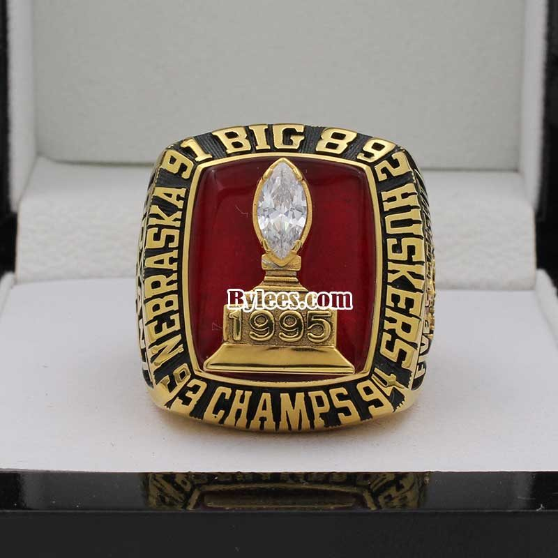 1995 Nebraska Big Eight Championship Ring