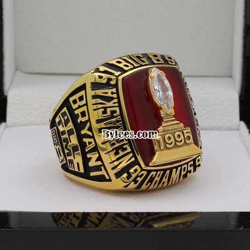 1995 Nebraska Cornhuskers Big Eight Championship Ring