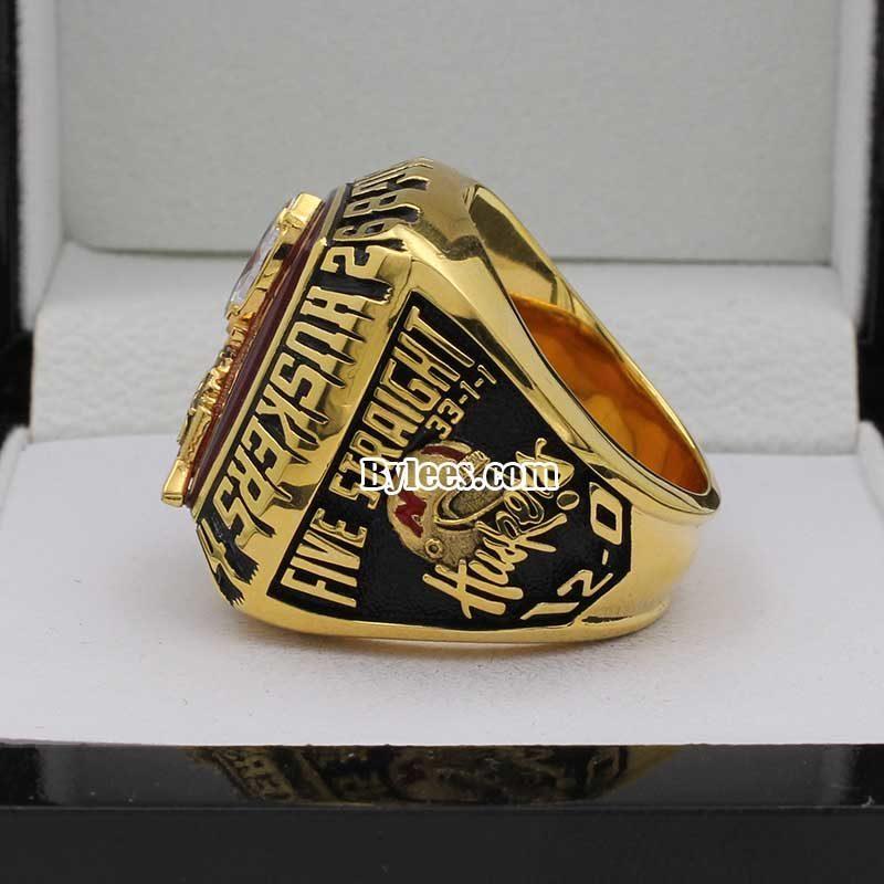 1995 Nebraska Cornhuskers Big 8 Championship Ring