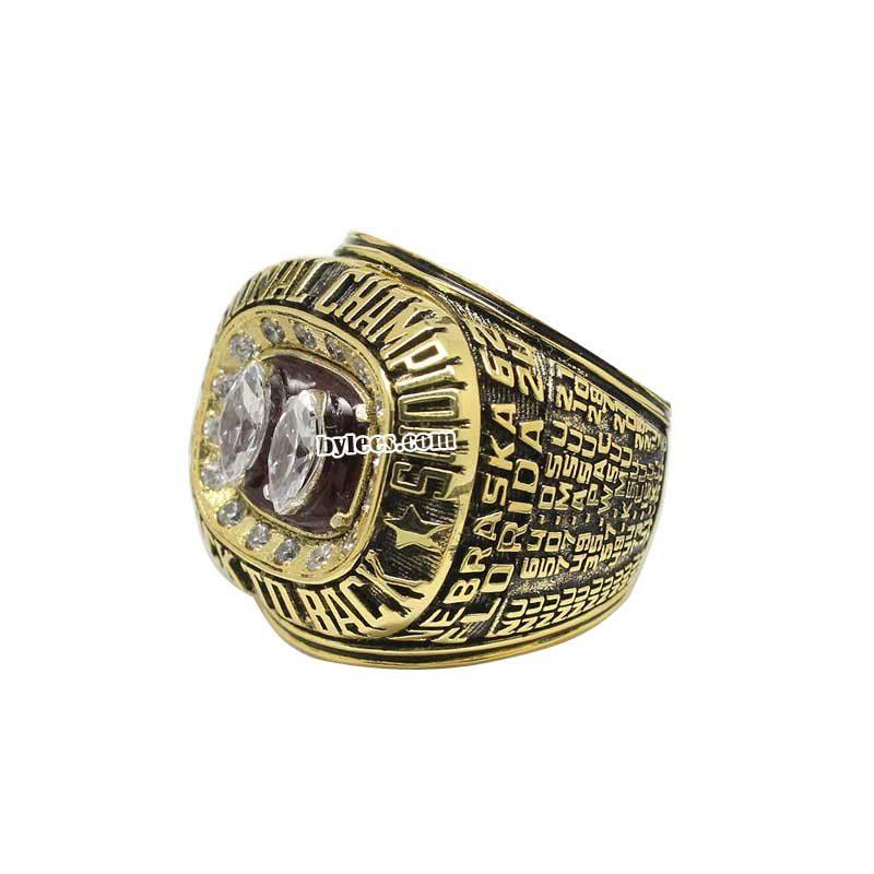 1995 Nebraska Cornhuskers National Championship Ring