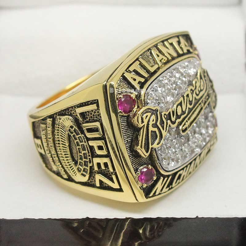 1996 Atlanta Braves National League Championship Ring