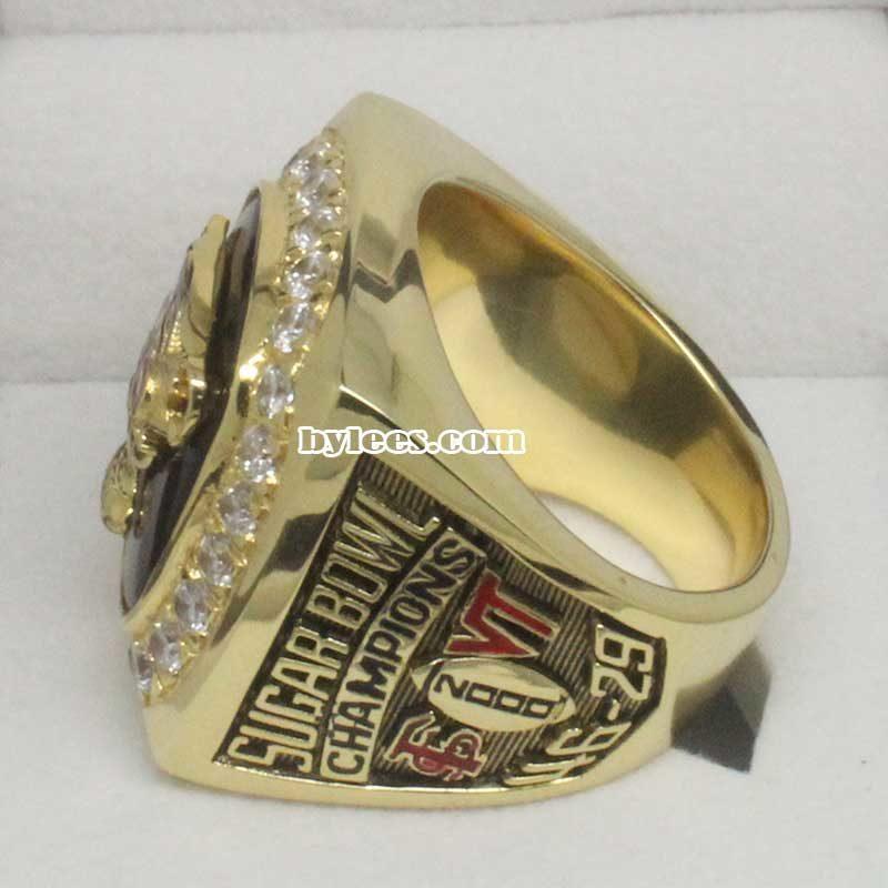 2000 FSU Florida State Seminoles Sugar Bowl Championship Ring