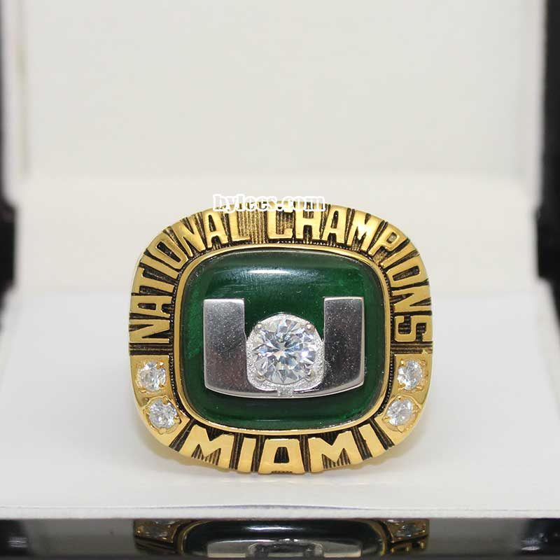2001 miami hurricanes championship ring