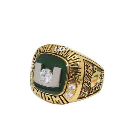 2001 Univerysity of Miami National Championship Ring