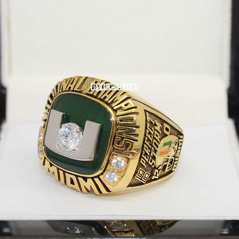 2001 Miami Hurricanes National Championship Ring
