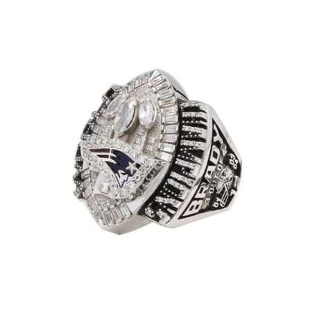 over view of tom brady super bowl rings 2004