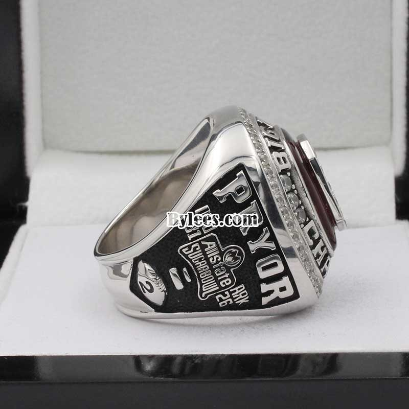 2010 Ohio State Buckeyes Sugar Bowl and Big Ten Championship Ring