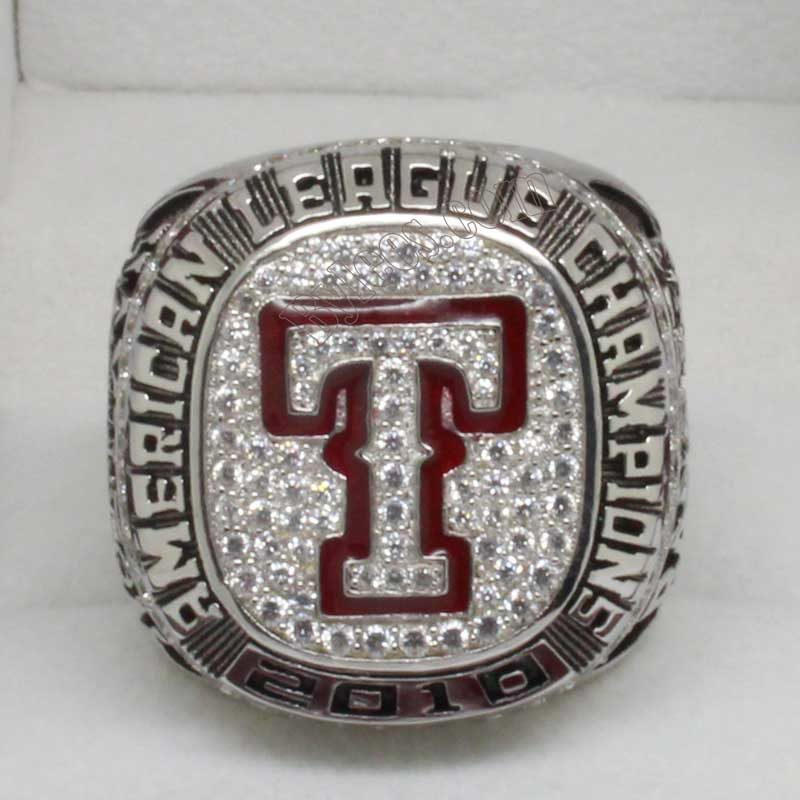 texas rangers AL championship ring in 2010