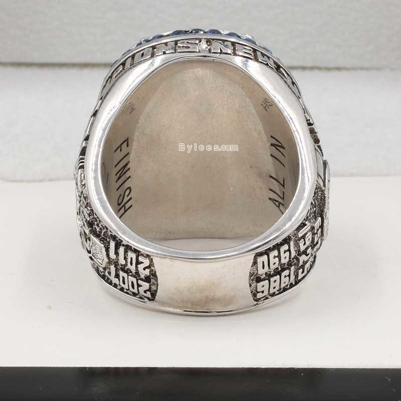 nyg super bowl rings (2011 super bowl XLVI Champions)