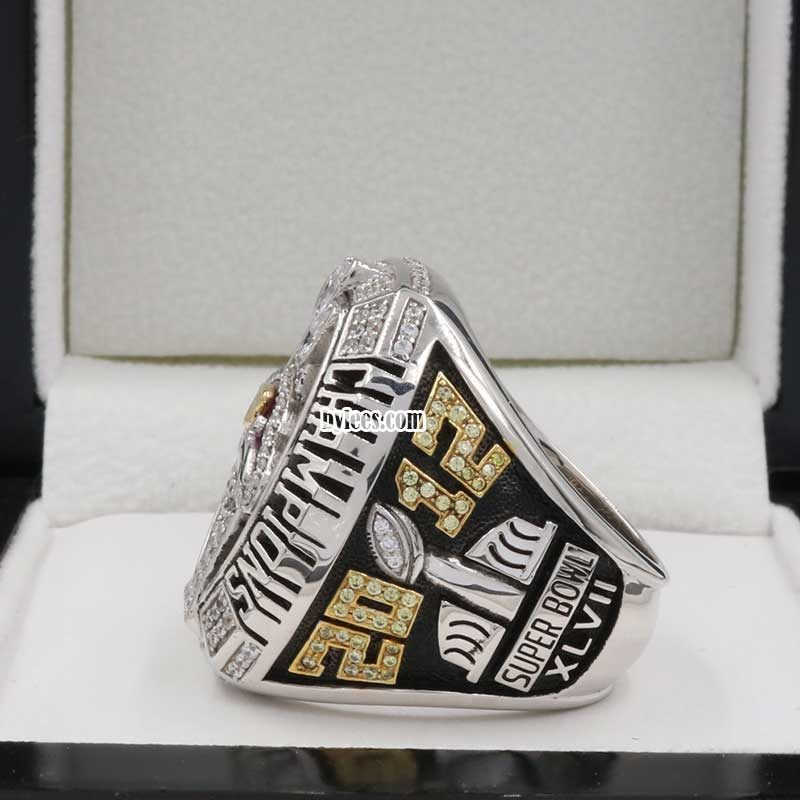 ray lewis Super Bowl rings (2012 Super bowl XLVII Champions)