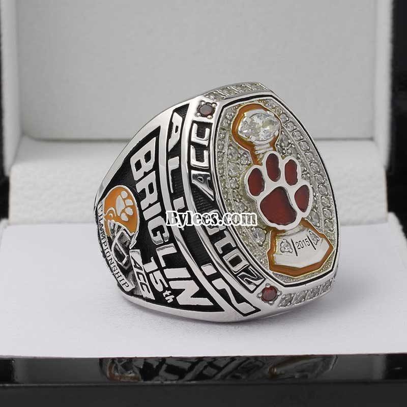 2015 Clemson University Tiger ACC Championship ring