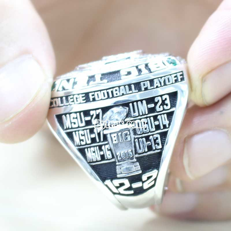 2015 Michigan State Spartans Championship Ring in Big Ten Game