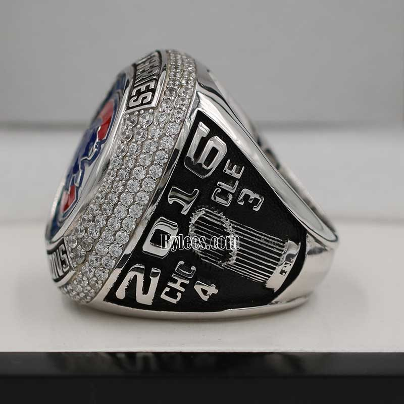 Right side view of 2016 chicago cubs world series fan championship ring