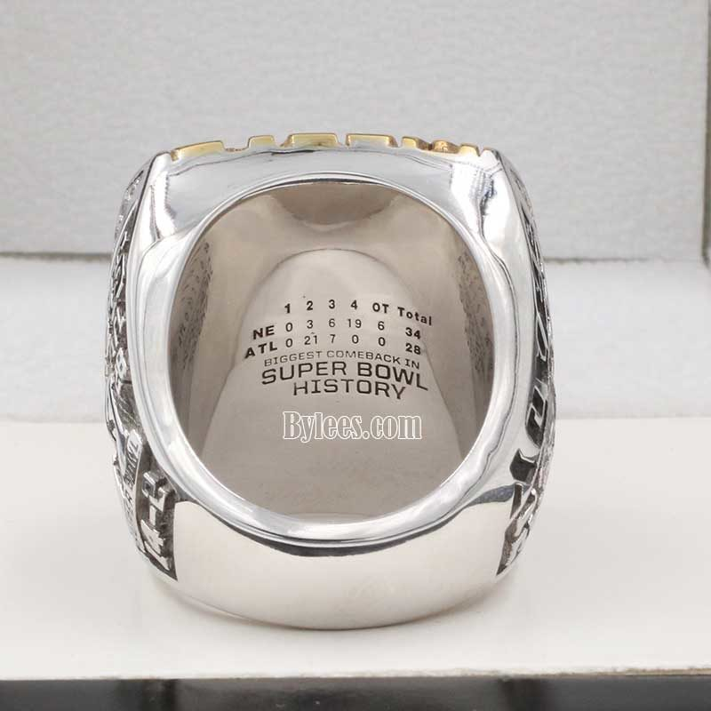 back view of new england patriot super bowl fan championship ring 2016