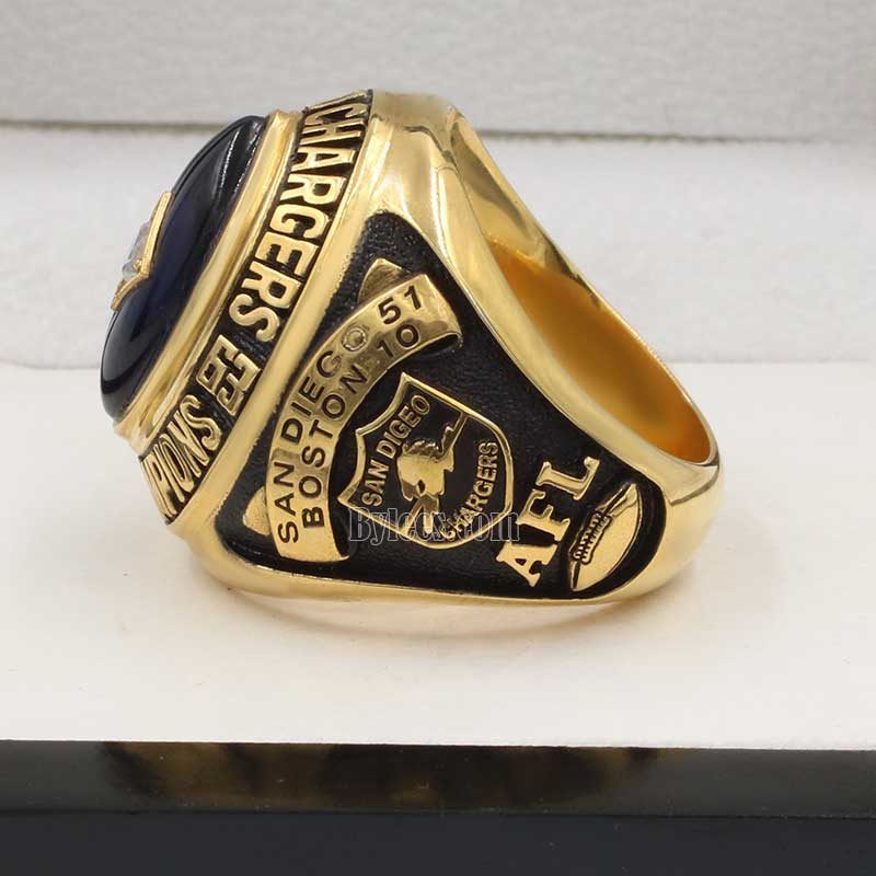 Chargers 1963 championship ring