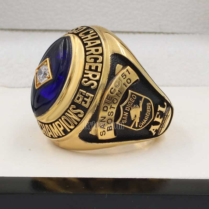 1963 San Diego Chargers Afl World Championship Ring Best