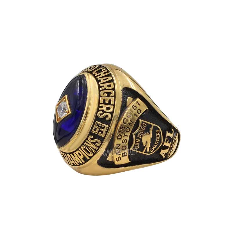 San Diego Chargers Championships: 1963 San Diego Chargers AFL World Championship Ring
