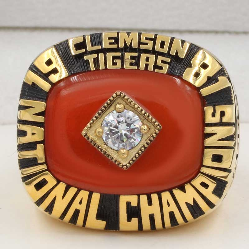 Ring Best Championship Tigers National Clemson – 1981