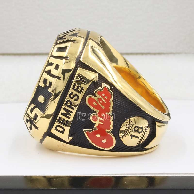 Right side view of 1979 Baltimore Orioles Championship Ring